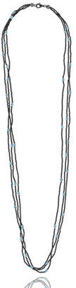 MCL by Matthew Campbell Laurenza Long Triple-Strand Silver Spinel & Turquoise Necklace