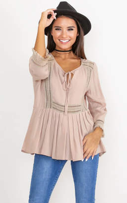 Showpo Only Exception Top in mocha
