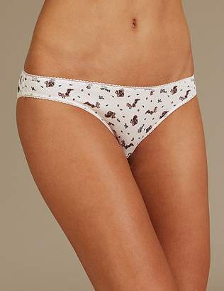 Marks and Spencer 5 Pack Cotton Rich Bikini Knickers