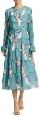 DAY Birger et Mikkelsen Borgo de Nor Viola Printed Georgette Midi Dress