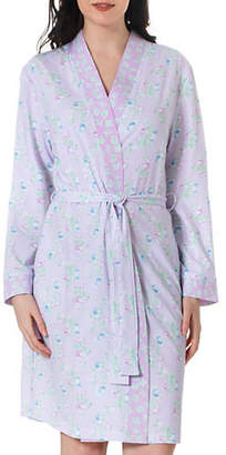 Jasmine Rose Two-Piece Floral Robe and Nightgown Set
