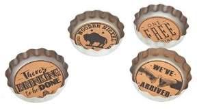 Godinger Beer Cap 4-Piece Coaster Set