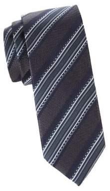 Canali Jacquard Silk Stripe Tie