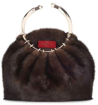 Valentino mink fur clutch