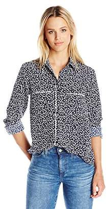 Paris Sunday Women's Long Sleeve Shirt with Piping