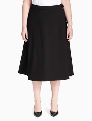 Calvin Klein plus size lux a-line skirt