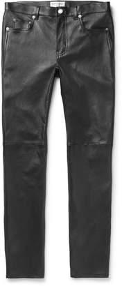 Saint Laurent Skinny-Fit Leather Trousers