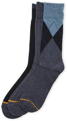 Gold Toe 3-Pack Argyle Dress Socks
