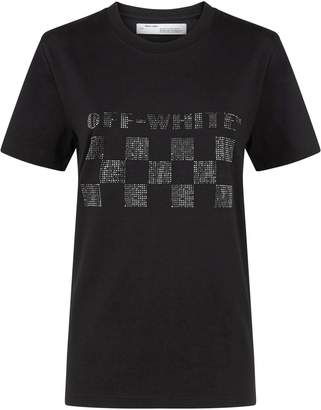Off-White Diamanté Logo T-Shirt