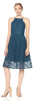 Kensie Women's Lace Fit and Flare Midi Dress