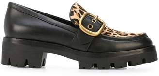 Coach leopard print Grand loafers