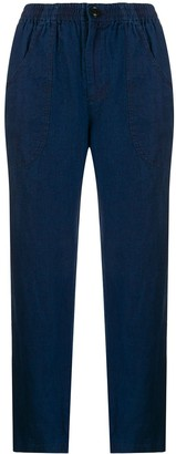 Blue Blue Japan cropped straight-leg trousers