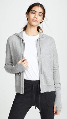 White + Warren Zip Up Cashmere Hoodie