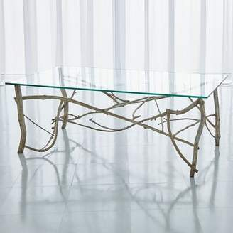 Global Views Twig Coffee Table with Tray Top