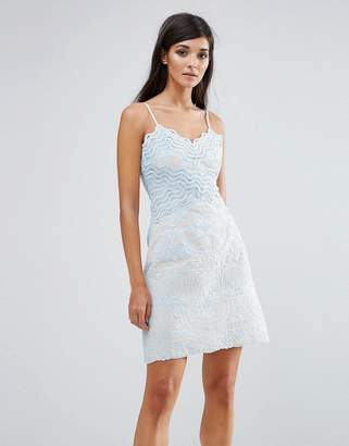 Aijek Lace Wiggle Mini Dress