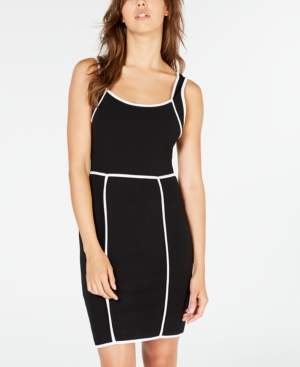 Almost Famous Juniors' Bodycon Dress with Contrast Piping