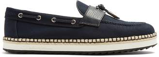 Dolce & Gabbana Leather-trimmed canvas loafers