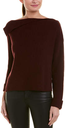 Vince Asymmetrical Rib Cashmere Pullover