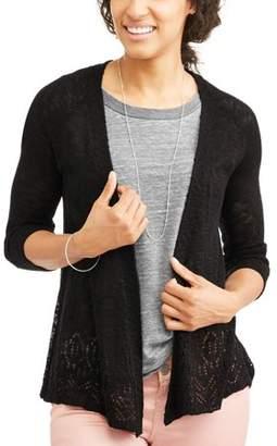 Willow & Wind Women's Crochet Detail Cardigan