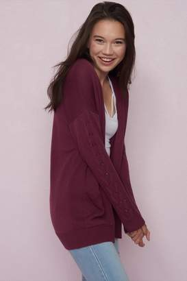 Garage Cardigan With Lace-Up Sleeves - FINAL SALE
