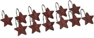 Mainstays Rodeo Time Hand Painted Star Shower Curtain Hooks, Set of Twelve