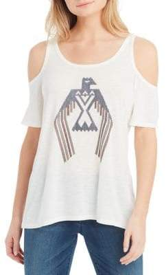 Jessica Simpson Nova Cold-Shoudler Graphic Tee