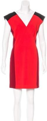 Roland Mouret Colorblock Mini Dress