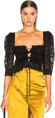 Brock Collection October Ladies Blouse in Black | FWRD