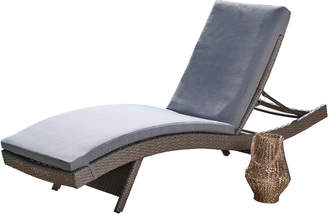 Abbyson Living Palermo Outdoor Wicker Patio Chaise With Cushion