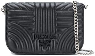 Prada quilted branded clutch
