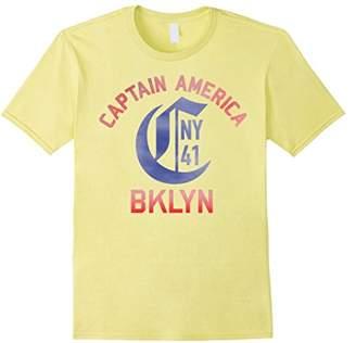 """Marvel Captain America BKLYN Jersey """"C"""" NY 1941 T-Shirt"""