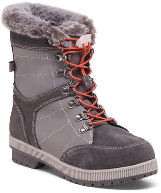 Khombu Leather And Suede Lace Up Winter Boots