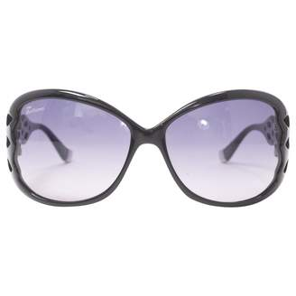 John Galliano Black Plastic Sunglasses