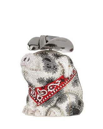 Judith Leiber Couture Hank Cowboy Pig Bag, White/Black
