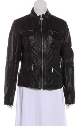 MICHAEL Michael Kors Leather Casual Jacket