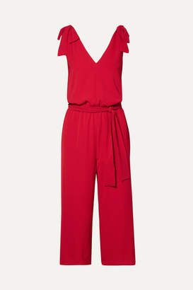 MICHAEL Michael Kors Bow-detailed Crepe Jumpsuit - Red