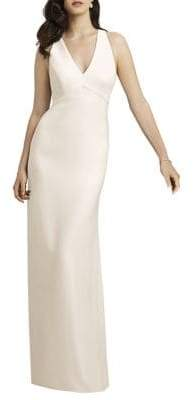 Dessy Collection Full-Length Sleeveless Crepe Gown