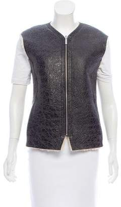 Etoile Isabel Marant Leather Shearling Vest w/ Tags