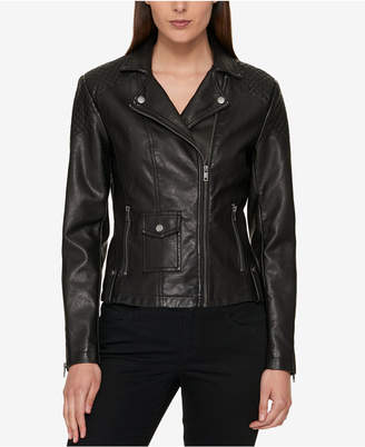 Tommy Hilfiger Faux-Leather Moto Jacket, Created for Macy's $99.50 thestylecure.com