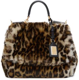 Dolce & Gabbana Multicolor Miss Sicily Leopard Eco-Fur Bag