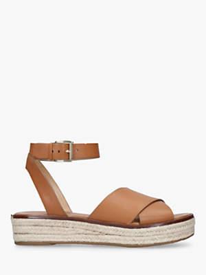 0314250b931a at John Lewis and Partners · Michael Kors MICHAEL Abbott Cross Strap  Flatform Sandals