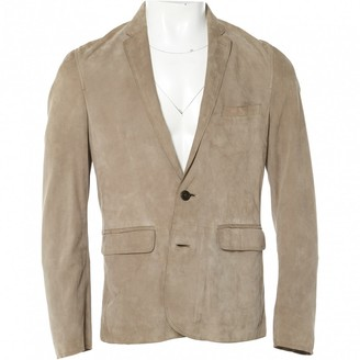 Burberry Grey Suede Jackets