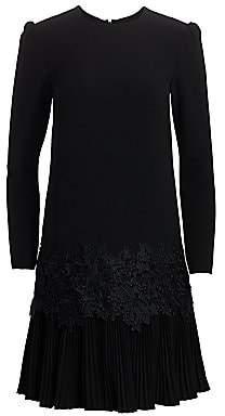 Lela Rose Women's Fluid Crepe Pleat-Hem Tunic Dress