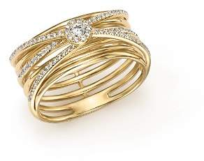 Bloomingdale's Diamond Multi-Row Crossover Band in 14K Yellow Gold, .30 ct. t.w. - 100% Exclusive