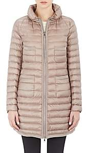 Moncler Women's Down-Quilted Bogue Coat - 256 Taupe