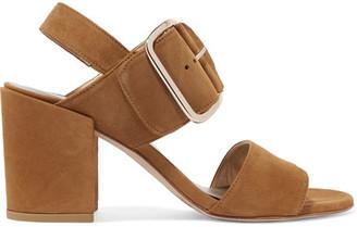 Stuart Weitzman - City Suede Sandals - Camel $435 thestylecure.com