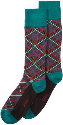Alfani AlfaTech by Men's Plaid Socks, Created for Macy's