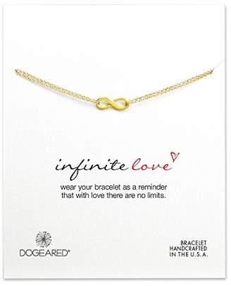 "Dogeared Infinite Love Dipped Sterling Silver Infinity Charm Bracelet 6""+ 1"" Extender"