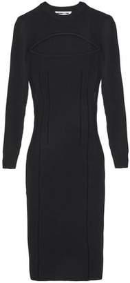 McQ Cutout Stretch-Knit Midi Dress