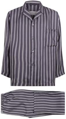 Daniel Hanson Striped Silk Pyjamas